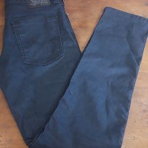 NWOT Levi's 511 Waxed Black Jeans 32x34